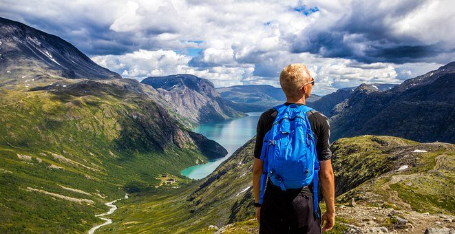 Norway, Mountains, Outdoors, People