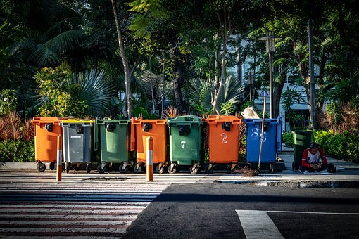 Trash, Bin, Garbage, Recycle, Waste
