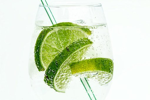 Lime, Club Soda, Drink, Cocktail, Juice