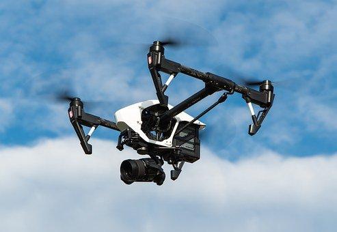Drone, Camera, Flying, Sky, Camera Drone