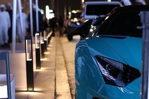 Lamborghini, Cars, Blue, Dubai, Lovecars