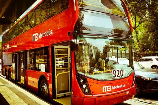 Metrobus, Bus, Red, Cdmx, Mexico