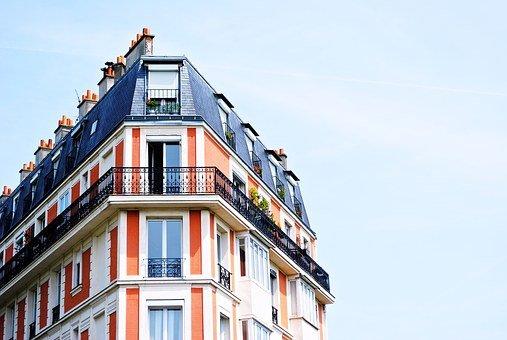 Apartment Building, Balconies, Building