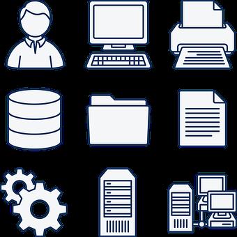 Computer, Data, Database, Diagram