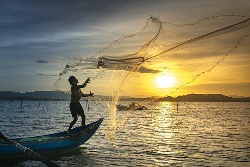 Fish, Fishermen, Fishing Net, Fishing