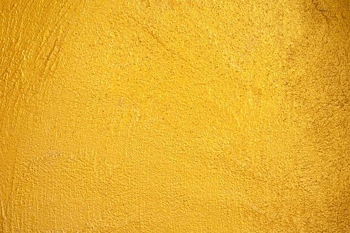 Yellow, Wall, Concrete, Design, Gold