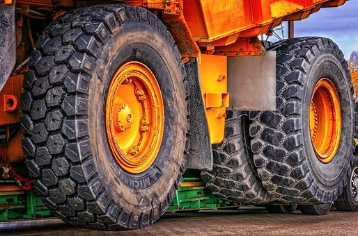 Wheel, Construction Machine, Dumper