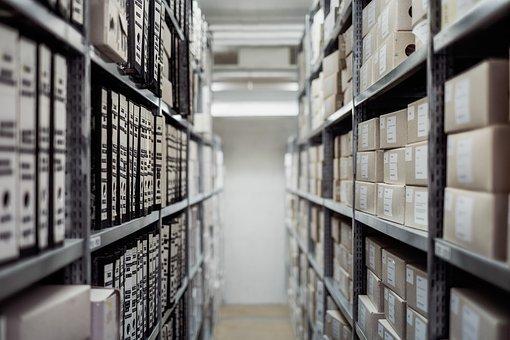Archive, Boxes, Shelf, Folders