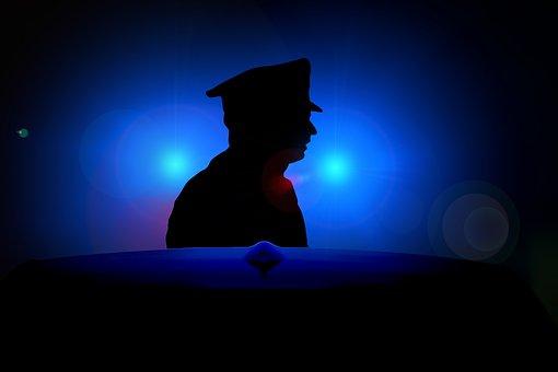 Blue Light, Siren, Police, Officer, Cop