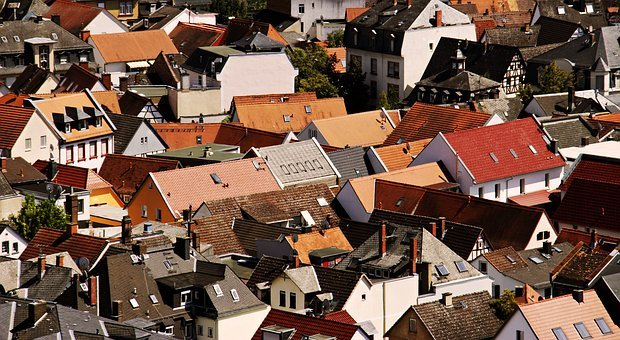 City, Roofs, House Roofs, Architecture