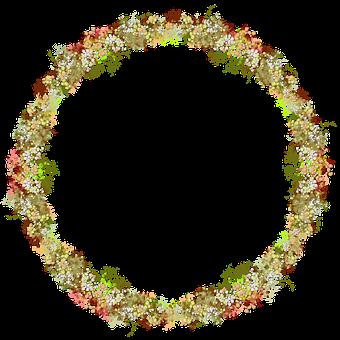 Floral, Wreath, Delicate, Multicolor