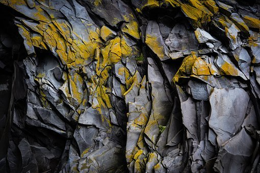 Rock Wall, Crevices, Geology, Pattern