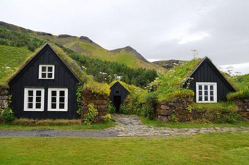 Skogar, Museum, Iceland, Grass Roofs