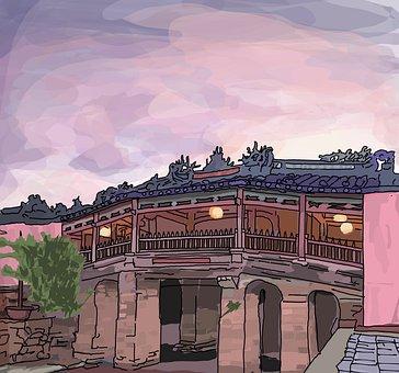 Stone Bridge, Temple Bridge, Sky