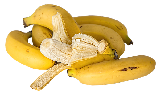 Banana, Tropical Fruit, Yellow, Healthy