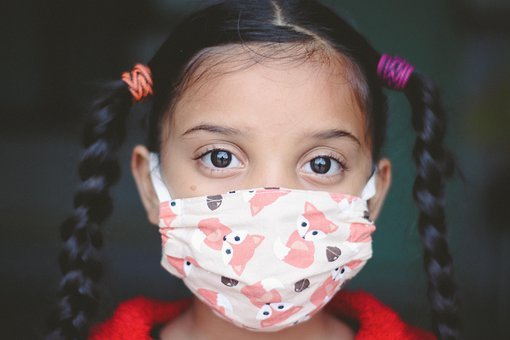 Girl, Child, Face Mask, Covid, Kid