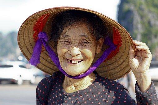 Woman, No Teeth, Vietnamese, People, Old
